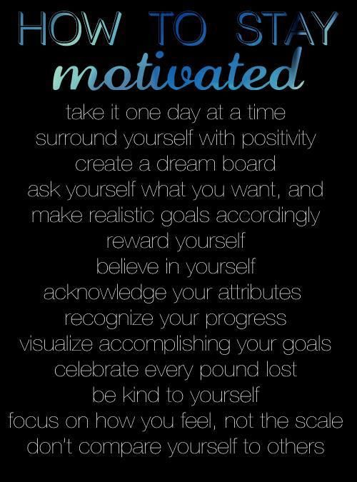 How to stay motivated. #motivation For guide + advice on #health and #fitness, visit http://www.thatdiary.com/