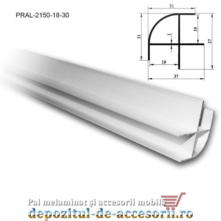 Profil imbinare de colt semirotund 18mm lungimea 3m aluminiu: profilul este…