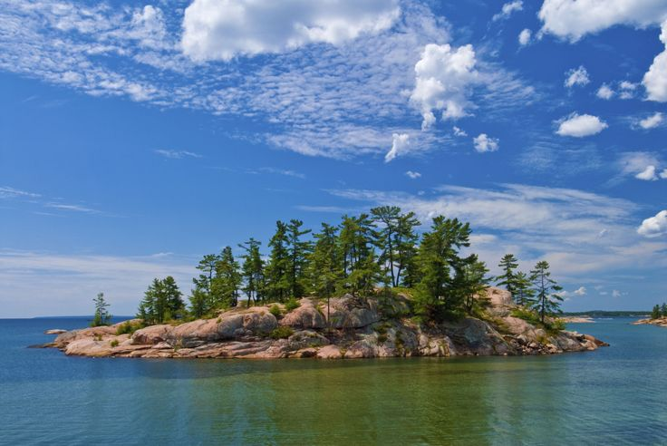 Island in Georgian Bay along the Chikanishing Trail, Killarney Provincial Park. Provided by The Huff...