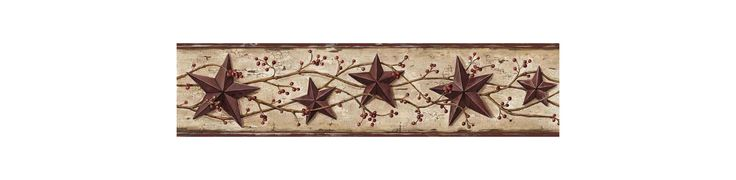 Brewster FFR65364B Cherry Heritage Tin Star Border Wallpaper Cherry Tin Star Home Decor Wallpaper Borders