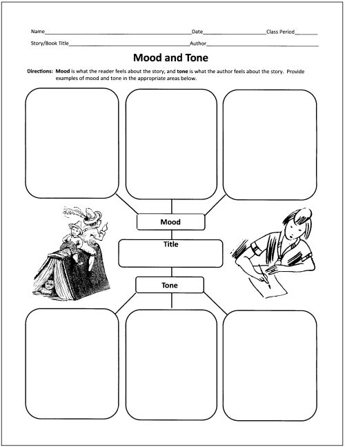Printables Tone Worksheets 1000 ideas about mood and tone on pinterest authors free graphic organizers for teaching literature reading 1 of the 10 ones available
