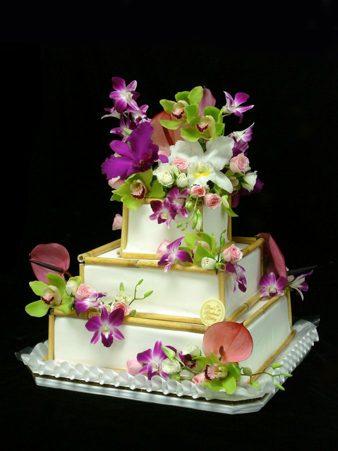 Wedding cake for a Garden Wedding ... #Budget wedding ideas for brides & bridesmaids, grooms & groomsmen, parents & planners ... https://itunes.apple.com/us/app/the-gold-wedding-planner/id498112599?ls=1=8 … plus how to organise an entire wedding, without overspending ♥ The Gold Wedding Planner iPhone App ♥