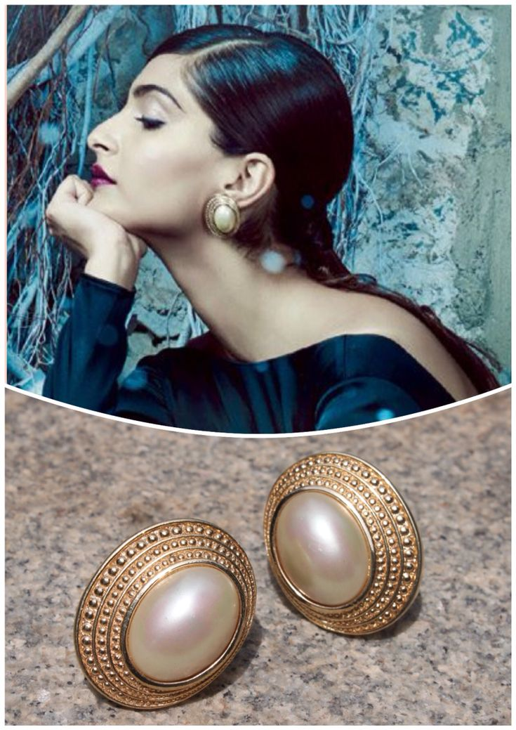The gorgeous Sonam Kapoor in our vintage Dior pearl studs for Harpers Bazaar, Sept 2015 issue ❤️❤️
