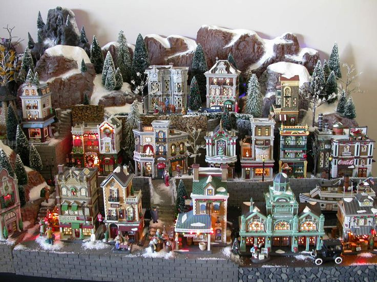 Set up a Christmas village display