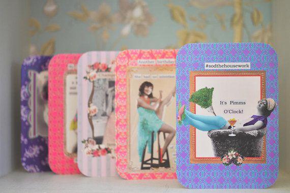 Diva Greeting Card: sodthehousework it's Pimms by ClareJordanStore