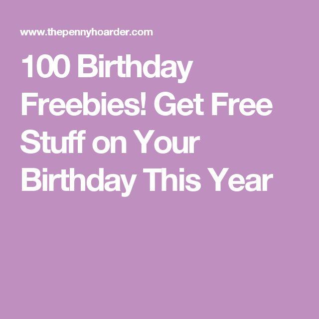 Freebies on your birthday az