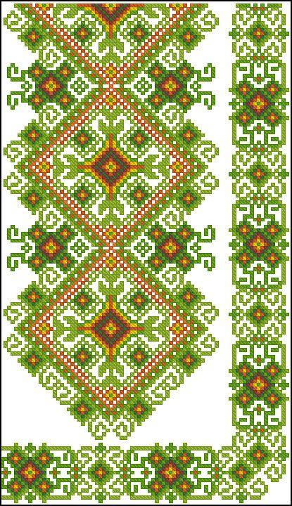 Gallery.ru / Фото #177 - схемы для вышиванок - zhivushaya