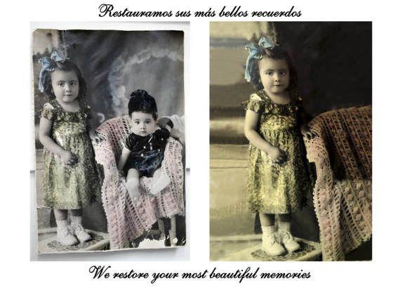 Fotografía Restaurada, Restauración Artística, Fotografía Vintage, Regalo Personalizado, Historia familiar, Fotografía Antigua, Hecho a mano