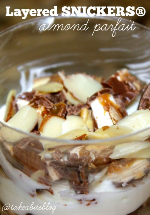 Layered SNICKERS® Almond Parfait #WhenImHungry #CollectiveBias #Ad