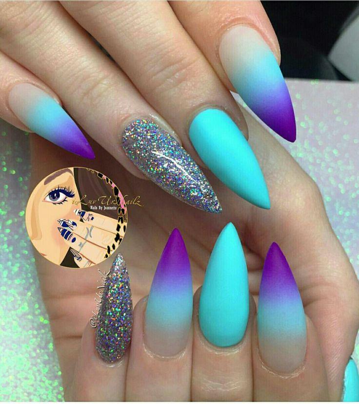 stiletto nail design