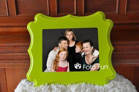 Allen family framed in lime Organic Bloom