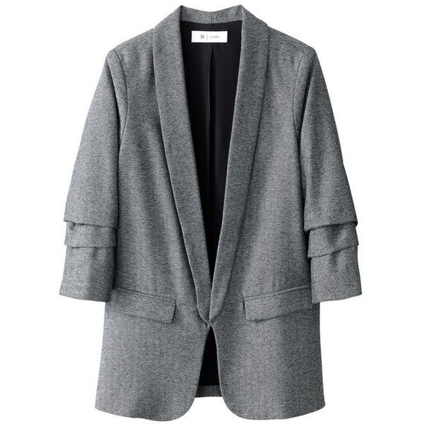 Veste blazer cintrée La Redoute Collections ( 78) ❤ liked on Polyvore  featuring outerwear, 29ed8a3f9187