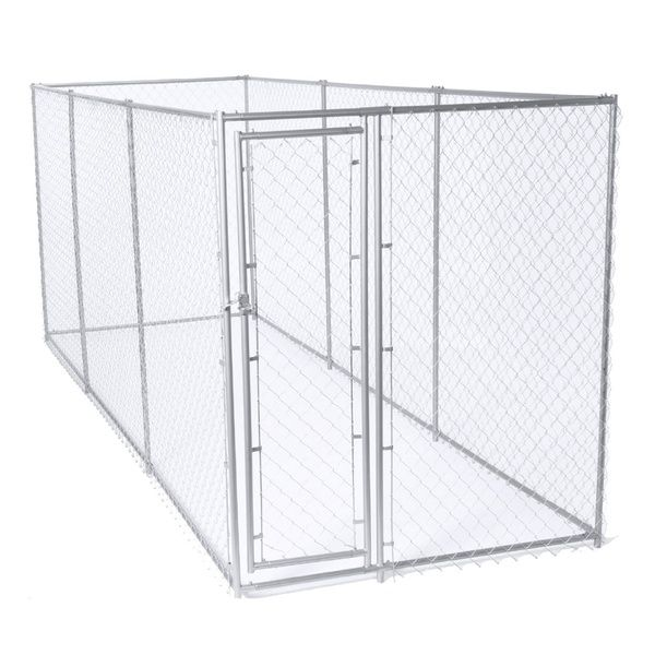 Lucky Dog 10 X 10 X 6 Heavy Duty Outdoor Chain Link Dog Kennel Enclosure Chain Link Dog Kennel Dog Cages Dog Kennel And Run