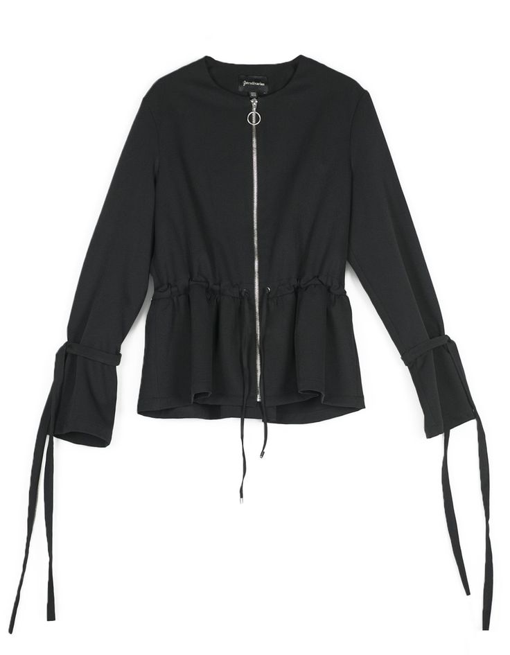 Jacket with bows on sleeves - Cardigans | Stradivarius Denmark