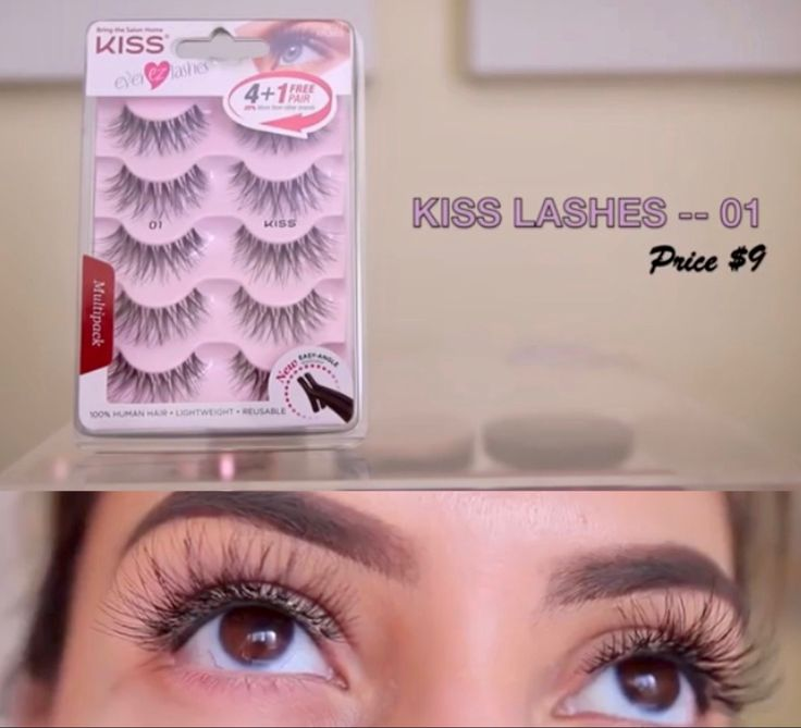 LOT of 2 - 2 pair Kiss Ever EZ Lashes Double Pack, Black