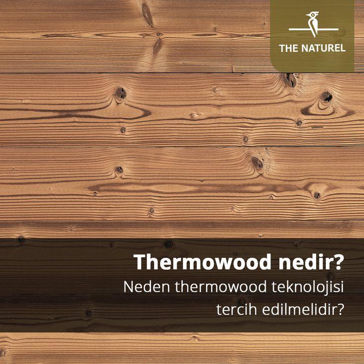 """""""Thermowood; ahşabın dış ortamda yaşadığı olumsuz özellikleri (çürüme, böceklenme, dönme, bükülme vb.) minimize etmek veya ortadan kaldırmak için 320°C fırın sıcaklığında yapılan termal modifikasyon işlemidir.Bu işlemden sonra ahşabın bahsedilen birçok olumsuz özelliği ortadan kalkmakta ve her türlü hava şartları için dayanıklı hale gelmektedir. Thermowood ürünler; %100 doğal bir üründür, sağlıklıdır, uzun ömürlüdür ve sürdürülebilir ormanlardan elde edilmektedir."""" #thenaturel #ahşap"""