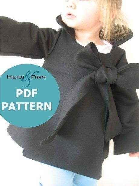 Chic Cocktail Swing Coat pattern and tutorial 12M-6T holiday jacket PDF to buy