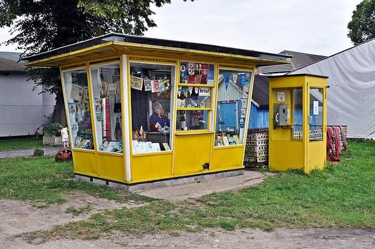 Zeitungs-Kiosk Mein Opa hat auf dem Zeltplatz dort immer seine Zeitung und seine… – Iris Terneddé