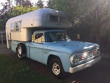 Rare 1966 Avion Cayo cabover camper and same-vintage Dodge D200 Sweptline pickup