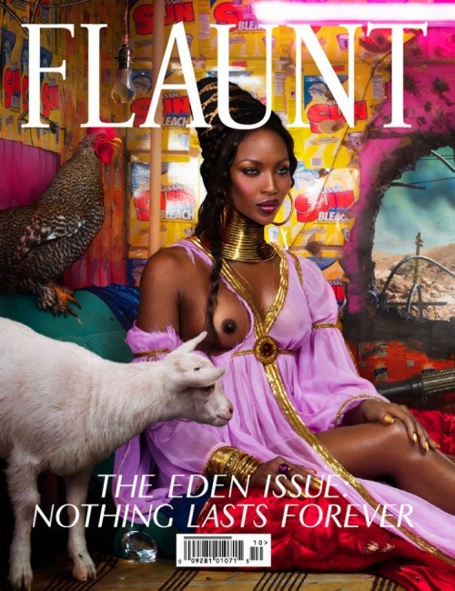 "cMag062 - Flaunt Magazine cover ""Naomi Campbell / The Eden Issue"" photo by David Lachapelle / Nº 106 / October 2009"