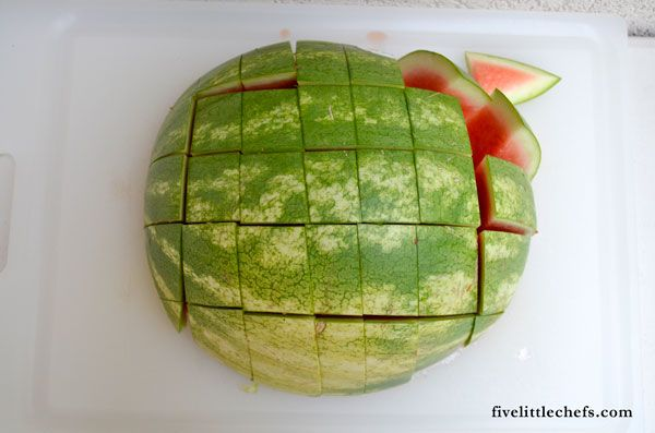 Take the hassle out of cutting a watermelon for all those parties coming up!