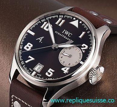 Montres d'imitation de luxe de la meilleure qualité pour la vente: Montre IWC Big Pilots Automatique Hommes IW500402 réplique la revue