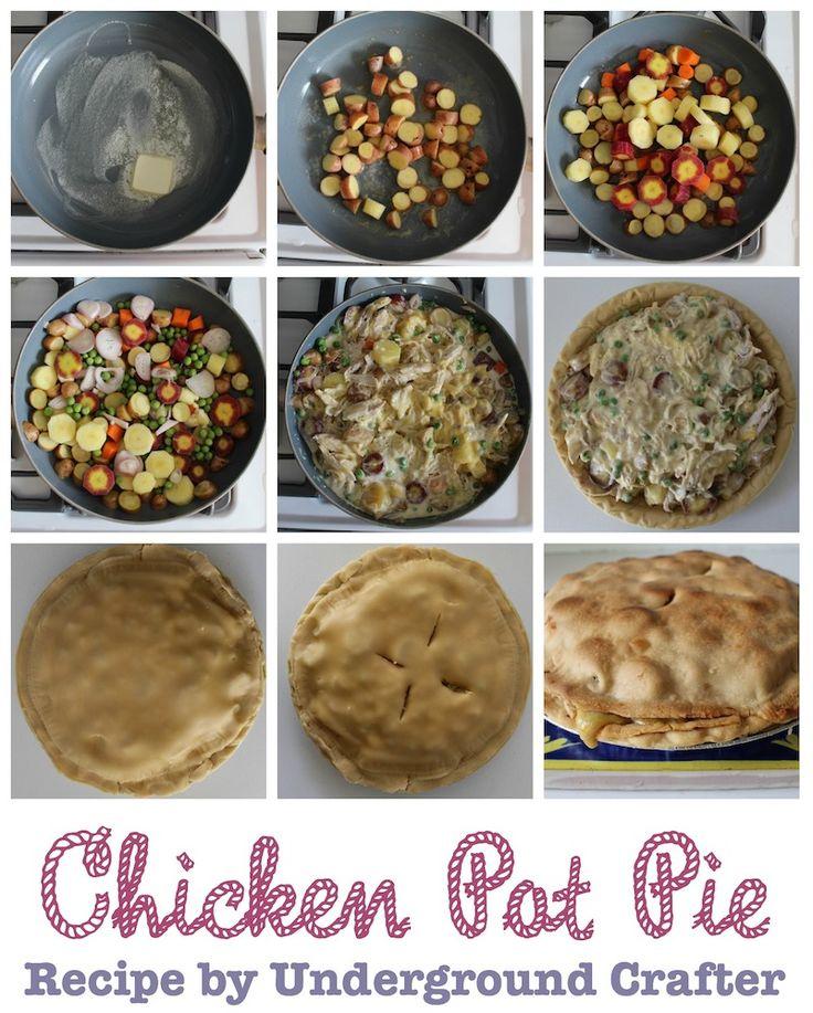 Chicken Pot Pie recipe by Underground Crafter