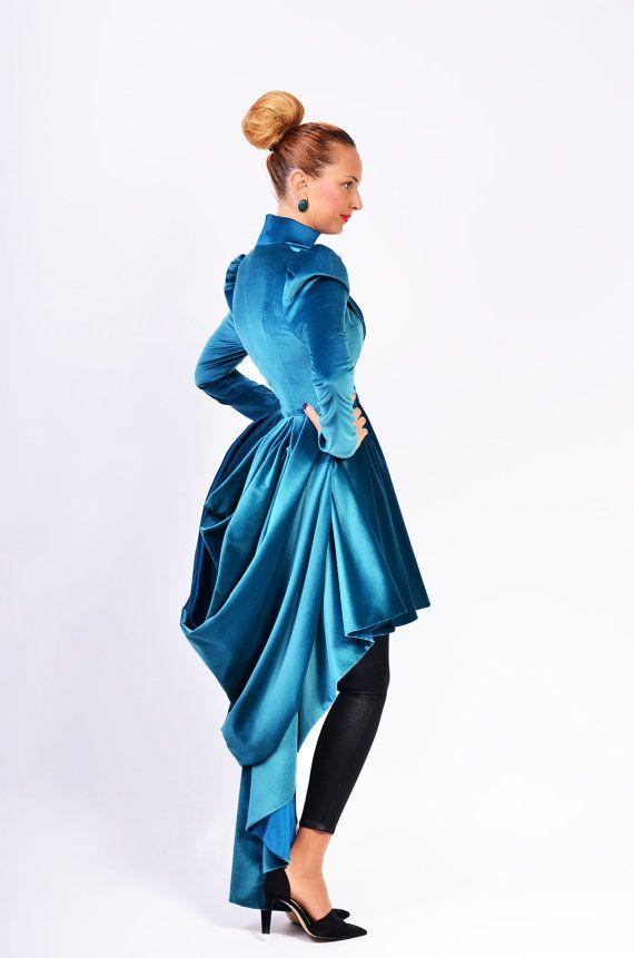 Veste couture en velours Ofelia (le tissu en images n'est plus disponible)