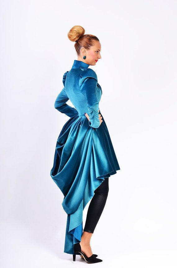 Gorgeous!! I'd love to wear this over an evening dress.  'Ofelia' velvet couture jacket by lauragalic on Etsy, $299.90