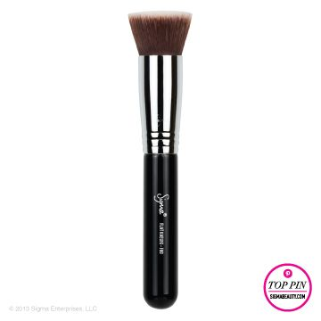 Sigma F80 - Flat Kabuki; $18 http://www.sigmabeauty.com/Sigma_Flat_Top_Synthetic_Kabuki_F_80_p/f80.htm?click=246498_source=Pinterest_medium=Pin_term=20130816_content=F80_campaign=repromo?click=490413