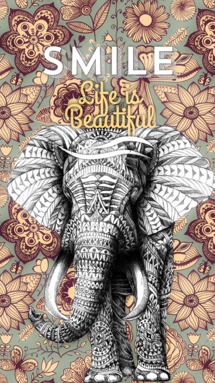 Wallpaper iphone mandala - Iphone Elephant Wallpaper Made This Using The App Font Candy