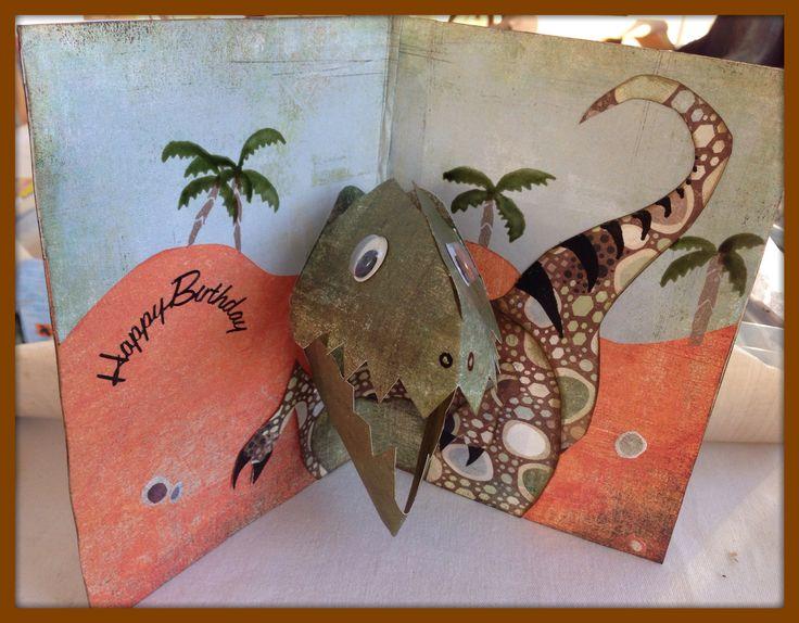 dinosaur pop up card