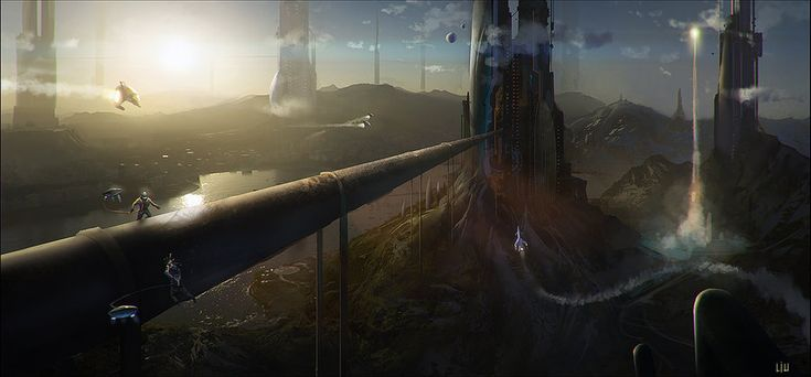 si-fi landscape by achillesliu on DeviantArt