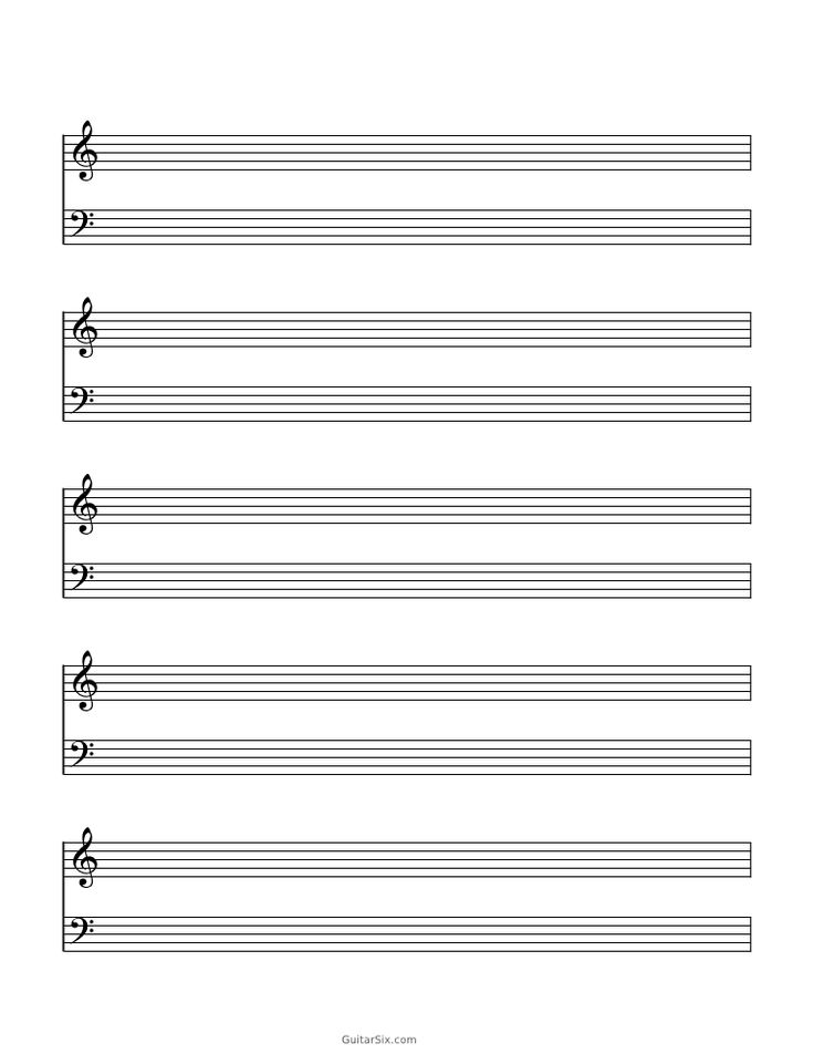 blank sheet music paper grand staff