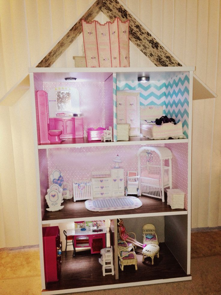 how to make a barbie doll house out of paper
