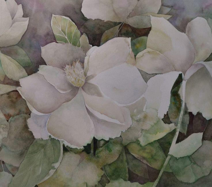 Magnolia principal en primer plano.