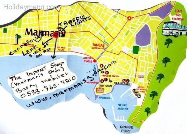 cool 2015 Map of marmaris