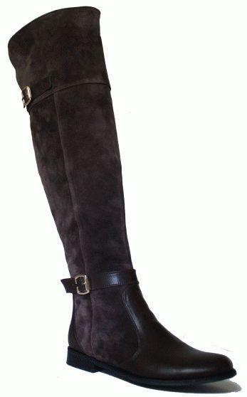 Ботфорты ODRI высокие коричневые