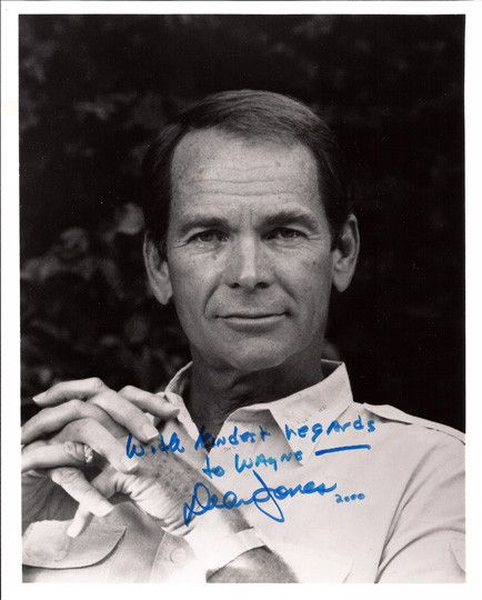 Collectible Movie Memorabilia Dean Jones Autographed Hand-Signed Photo. Comes with certificate of authenticity. Jones is best known for his light-hearted leading roles in several Walt Disney movies be