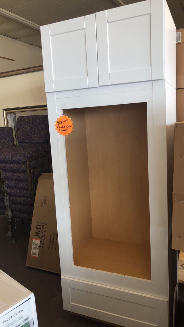 Double Oven Cabinet 33x72 With Shaker Cabinet 33x18 For Sale In