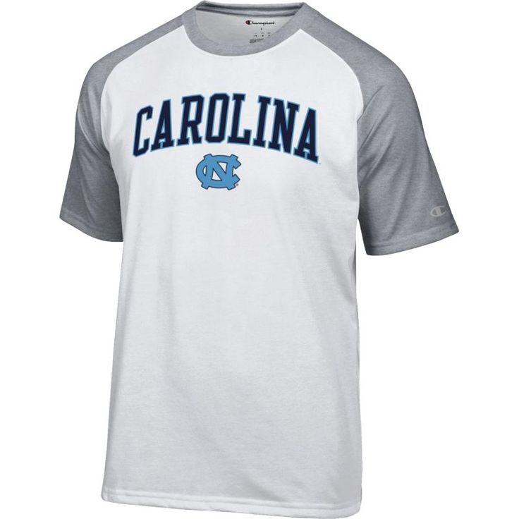Champion Men's North Carolina Tar Heels White Word Logo T-Shirt, Size: XL, Team