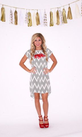 Dotty Chevron | Impressions Go Hogs!