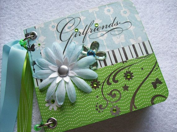 Scrapbook Pocket Page Mini Album Girlfriends for a by ljbminis2021, $16.99