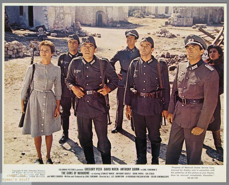 #Sixties | Gia Scala, James Darren, Anthony Quinn, David Niven, Stanley Baker and Gregory Peck in The Guns of Navarone, 1961