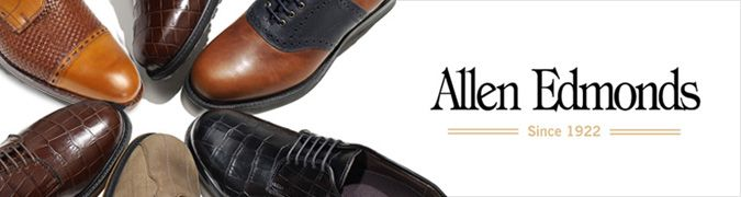 $395 AE FIFTH AVENUE CAP-TOE OXFORD  by Allen Edmonds  This classic six-eyelet lace-up balmoral made of our quality calfskin leather and handcrafted on our most popular 65 Last, is the shoe that knows the value of a good investment. It also has a little New York flair with the perforated brogue styling along the cap seam.  Worn with a suit or slacks  360 degree Goodyear welted construction