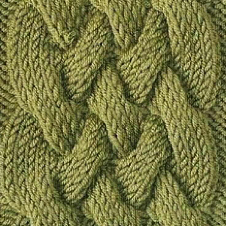 вязание спицами коса