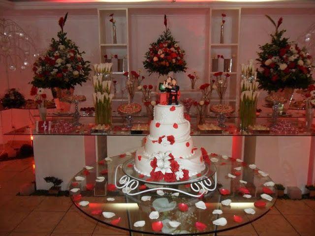 Lembrancinhas e Festas: Festa de casamento em vermelho e branco