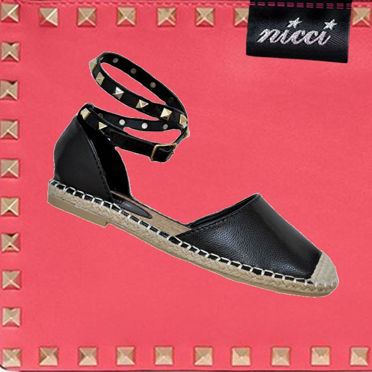 Inspired by #Valentino #Studded espadrilles now at #Nicci stores & online!