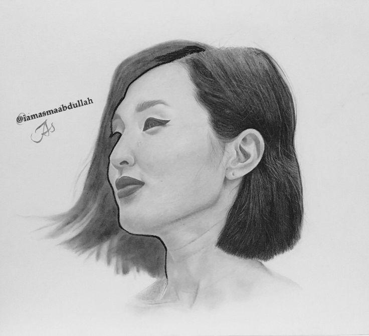 Nicole Warne aka @garrypeppergirl in progress.   #art #artist #artists #chracoal #pencils #brush #blackabdwhite #sketch #saudiarabia #middleeastArtist #illustration #drawings #portrait #nicolewarne #vogue #harperbazaar