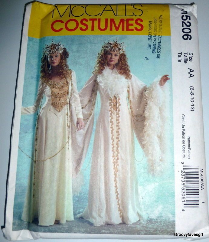 Halloween Snow Queen Narnia White Witch Dress Costume Medieval Theatre Cosplay #McCall